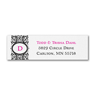 Flourish Monogram - Address Label