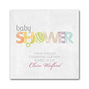 Little Rattle - Napkin - Boy