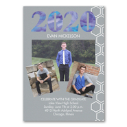 Watercolor Grad Style - Graduation Announcement