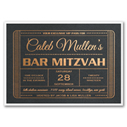 Exclusive VIP Pass - Invitation with Backer - Black Shimmer