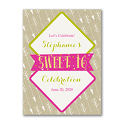 Sixteen Shine - Birthday Invitation